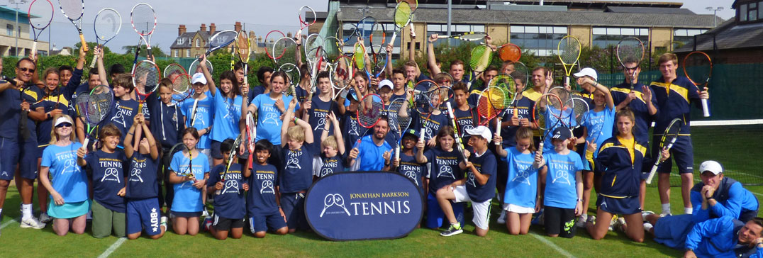 Giocatori e allenatori al  Tennis Camp di Oxford
